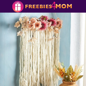 🧶Free In-Store Event at Michaels: Floral Yarn Wall Hanging