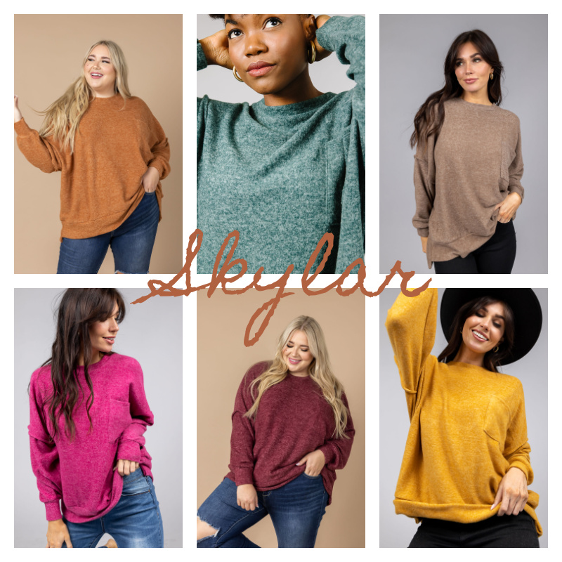 🍁Oversized Heathered Sweaters Starting at $19.99