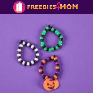 🎃Free Take & Make at Michaels: Halloween Pony Bead Bracelet