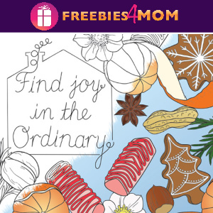 🏡Free Printable Adult Coloring: Happy Home