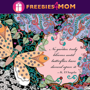 🦋Free Printable Adult Coloring: A Garden of Quotes