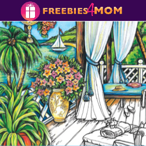 🌴Free Printable Adult Coloring: Wish You Were Here!